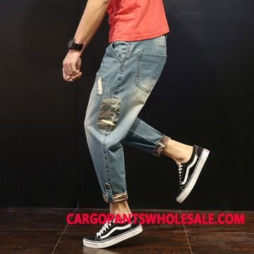 Jeans Men Hole Loose The New Thin Section Jeans