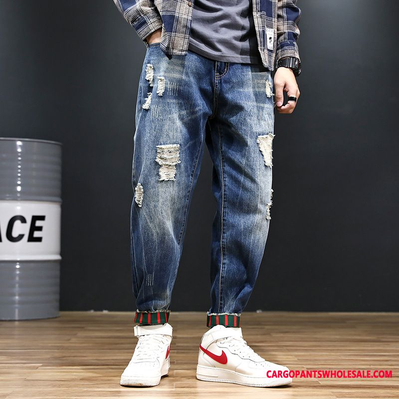 Jeans Men Large Size Hole The New Jeans Washed