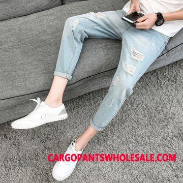 Jeans Men Pants Jeans Trend Slim Fit Retro