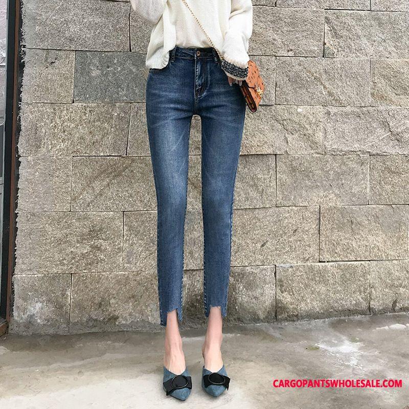 Jeans Women High Waist Elastic Force Jeans Pants Pencil Pants