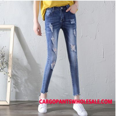 Jeans Women Hole Spring Summer Jeans Small