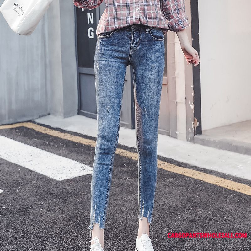 Jeans Women Light The New Tight Spring Trousers Hole