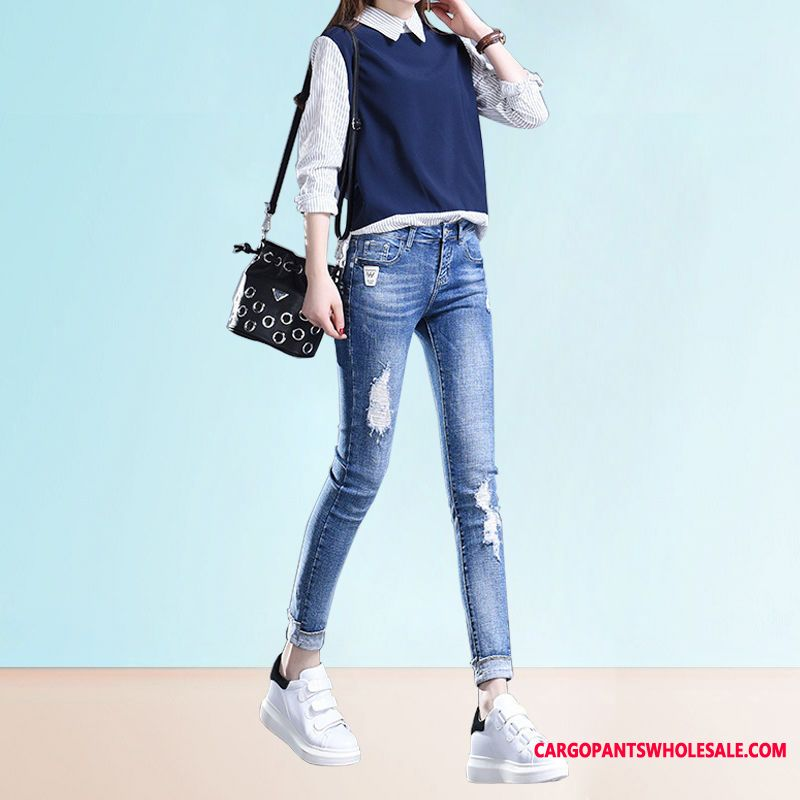 Jeans Women Light Tight Jeans Slim Spring The New