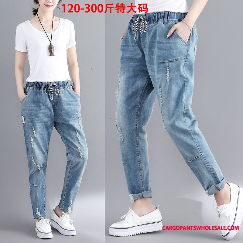 Jeans Women Pants Jeans Elastic Force Slim Elastic