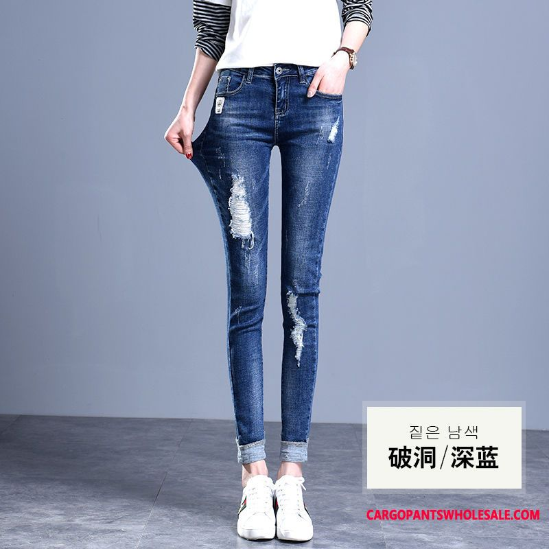 Jeans Women Spring Elastic Force Slim Pants Slim Fit