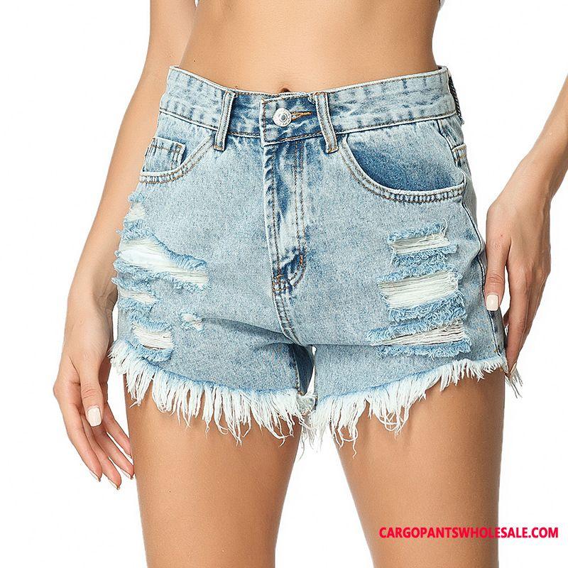 Shorts Female Large Size Cowboy Women Shorts Hole