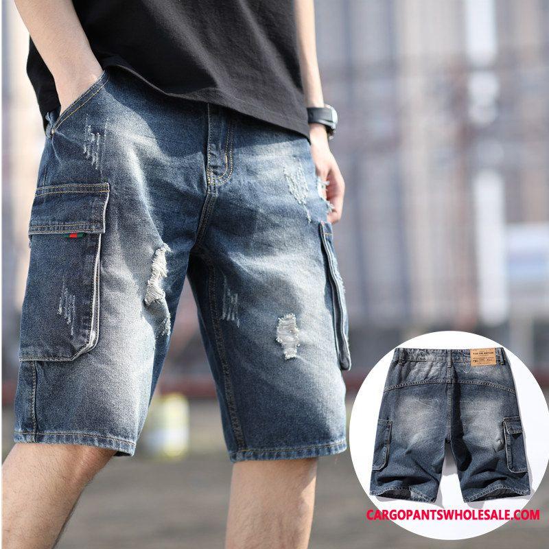 Shorts Male Hole Large Size Men Pants Summer Shorts