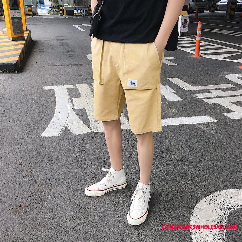 Shorts Male Shorts Cotton Men Cargo Tide Brand Leisure
