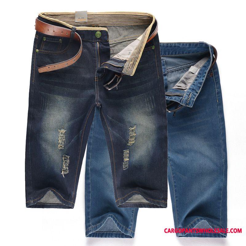 Shorts Male Thin Section Summer Men Medium The New Hole