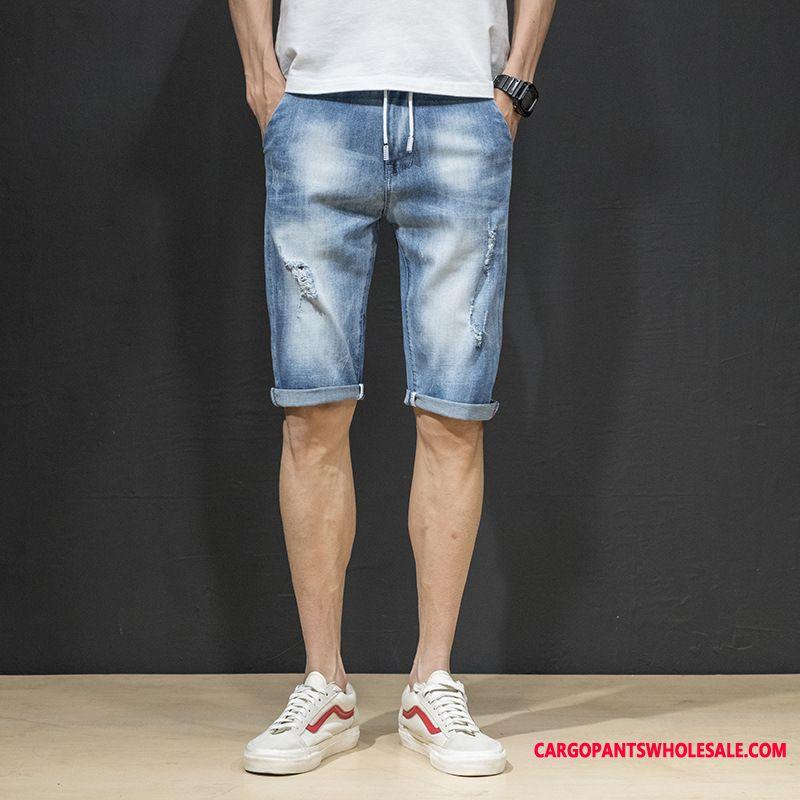 Shorts Men Green Thin Section Pants Fashion Cowboy Summer