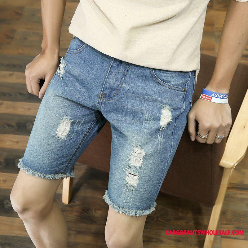 Shorts Men Shorts Cowboy Thin Section Trend Medium