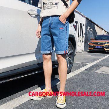 Shorts Men Trend Shorts Hole Pants Slim Fit