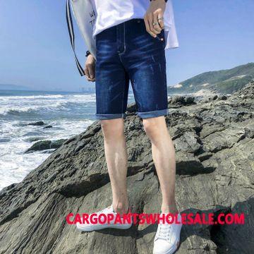 Shorts Men White Green Shorts Jeans Summer Pants Tide