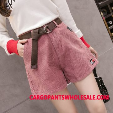 Shorts Women Corduroy The New Loose Large Size Bottoming