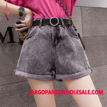 Shorts Women Pants Crimping Fashion Loose Student