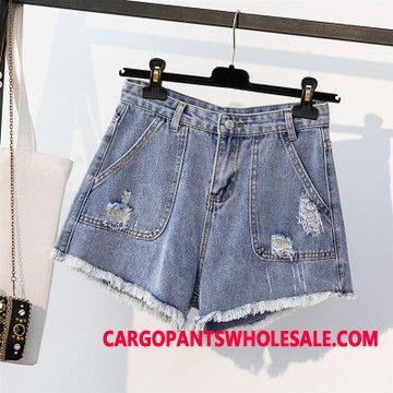 Shorts Women Slim Cowboy Hole Summer Shorts