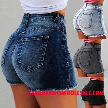Shorts Women Straight Shorts High Waist Cowboy Tassel