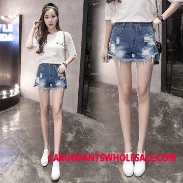 Shorts Women Summer Hole Large Size Pants Spring