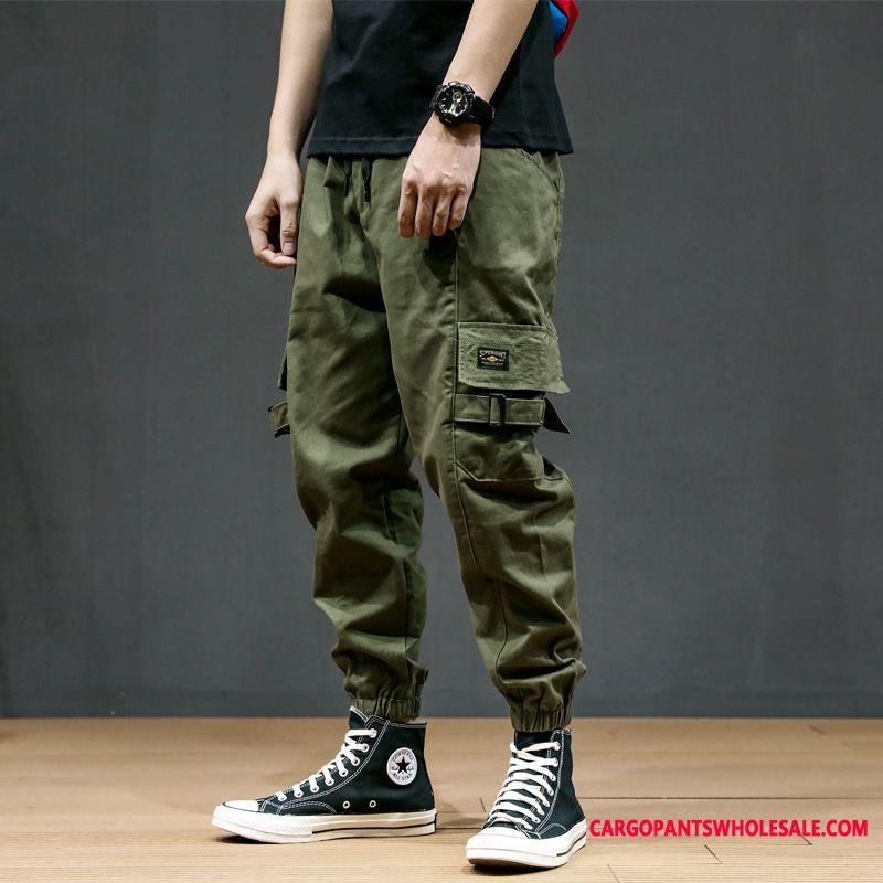 Cargo Pants Male Army Green Cargo Pants Casual Pants Men Loose Harlan Fat Man