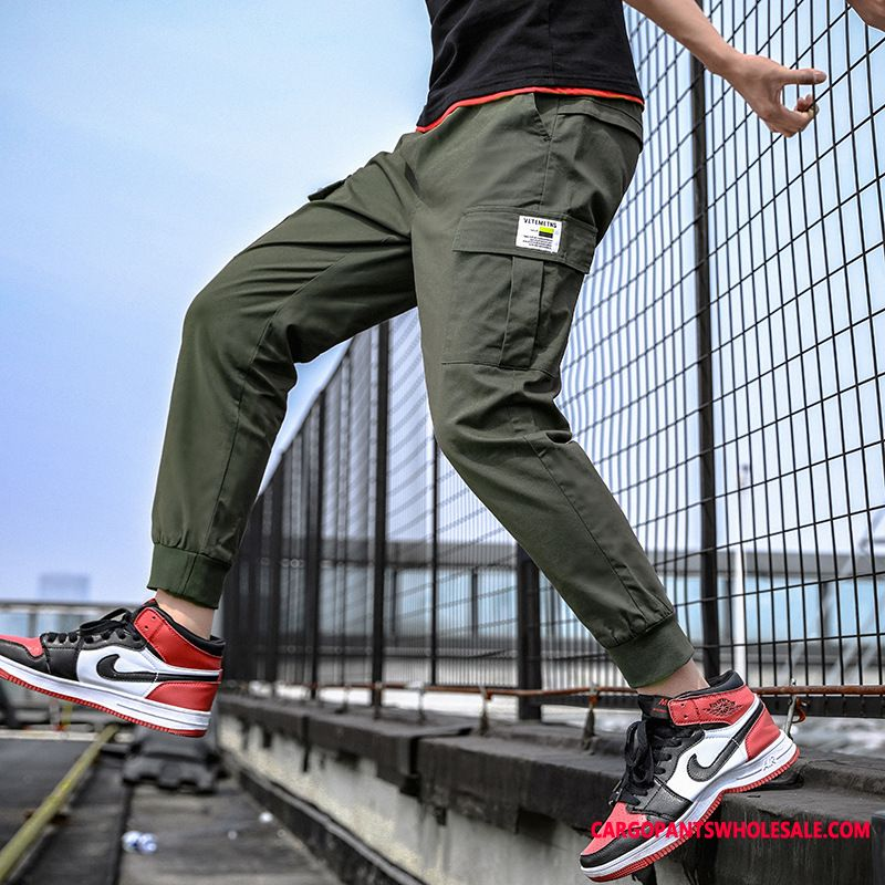 Cargo Pants Men Cargo Pants Solid Color Multi-pocket Trend The New