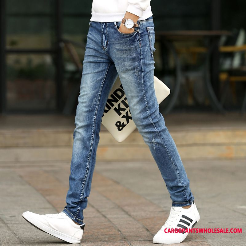Jeans Men All Match Pants Trend Slim Fit The New