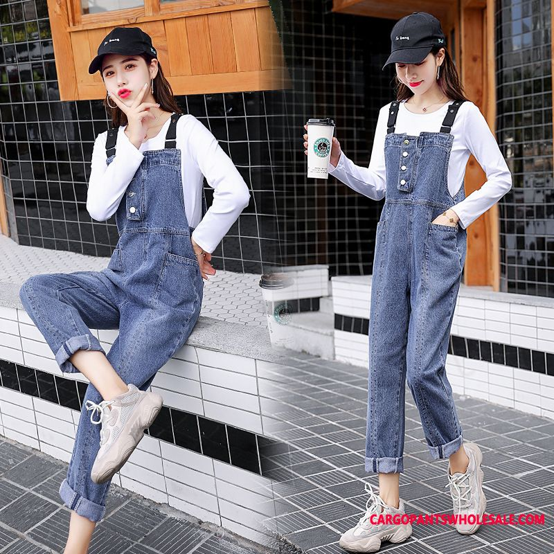 Bib Pants Female Two-piece Suit The New Autumn Cowboy Fashion