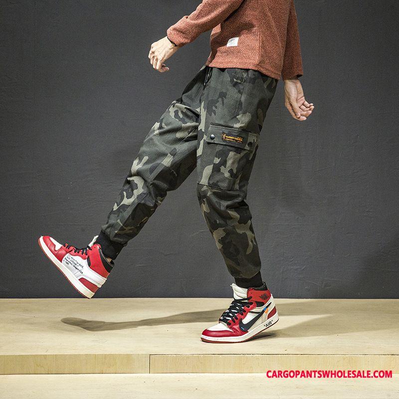 Spodnie Cargo Męskie Kamuflaż Spodnie Dresowe Nowy Męskie Casual Spodnie Tendencja Duży Rozmiar
