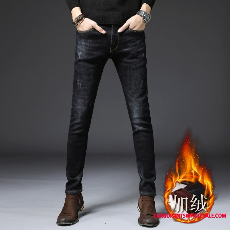 Jeans Male Green Elastic Force The New Men Winter Autumn All Match