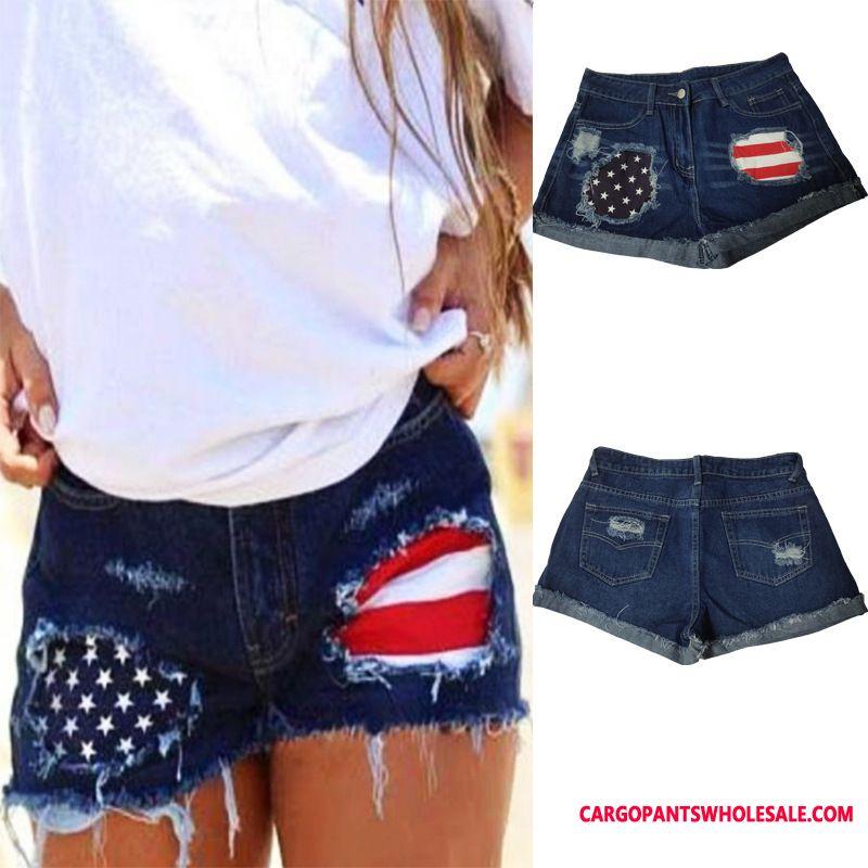 Shorts Female Cowboy Worn Out Explosion Shorts