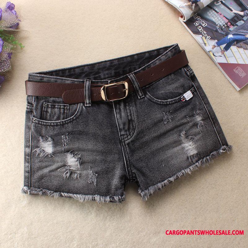 Shorts Female Hole Spring Women Mid Waist Summer Hot Pants