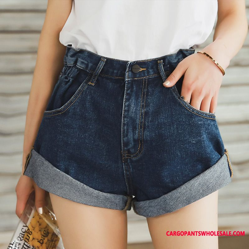 Shorts Women Cowboy High Waist Flanging The New Shorts