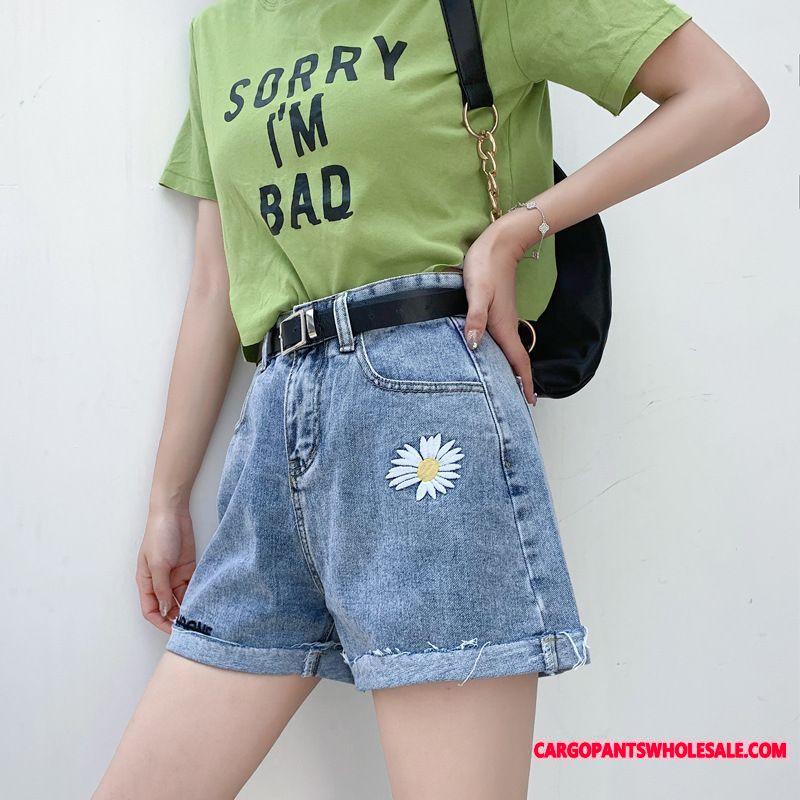 Shorts Women High Waist Fat Cowboy Small Daisy Shorts