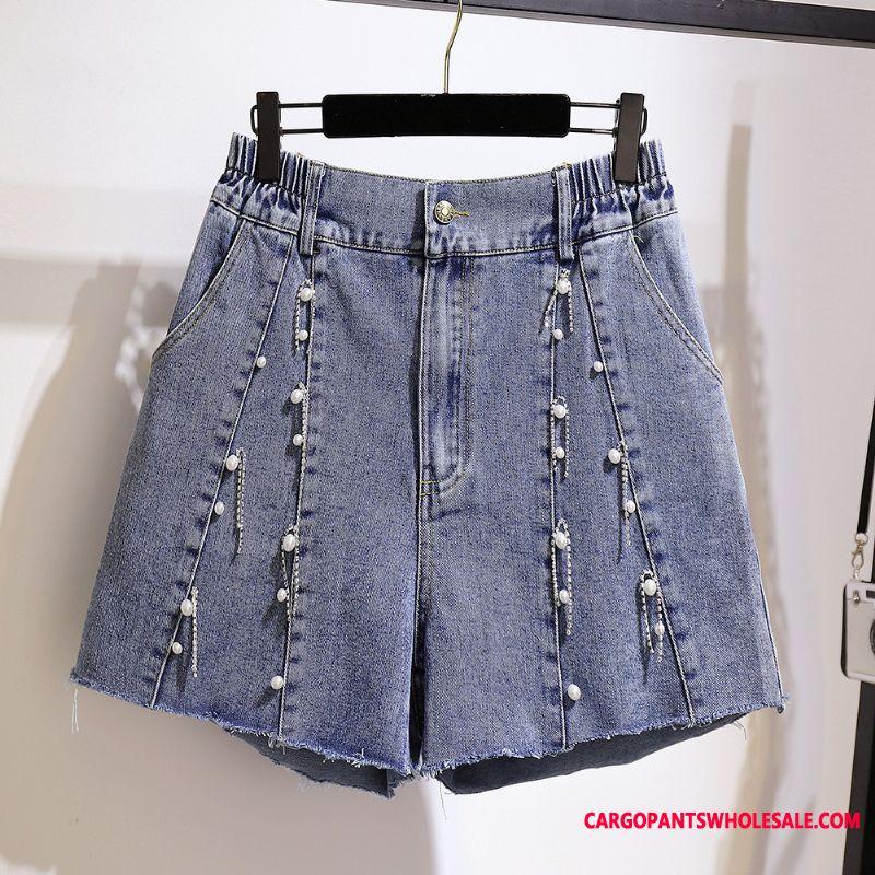Shorts Women Straight Shorts Summer Fat Cowboy