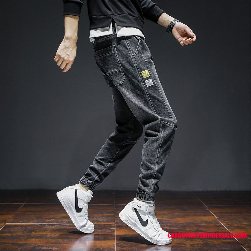 Jeans Male All Match Autumn Men Leisure Loose Beam Foot