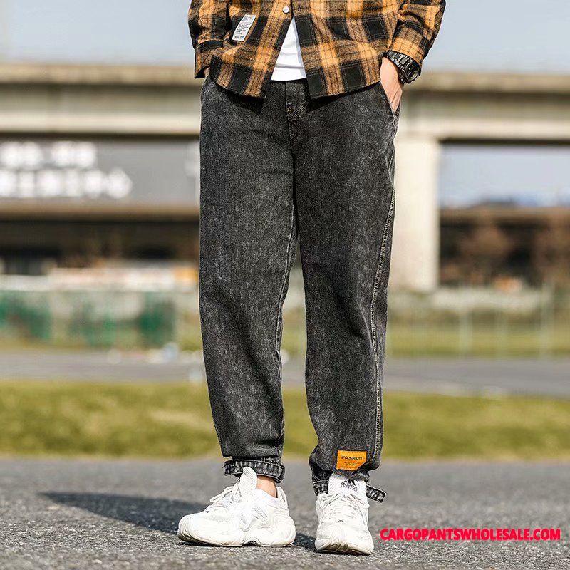 Jeans Male Autumn Loose Cotton Pants Jeans