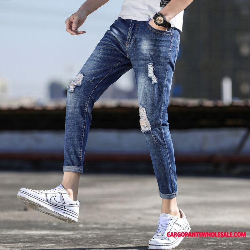 Jeans Male Elastic Force All Match Leisure Slim Fit Motion