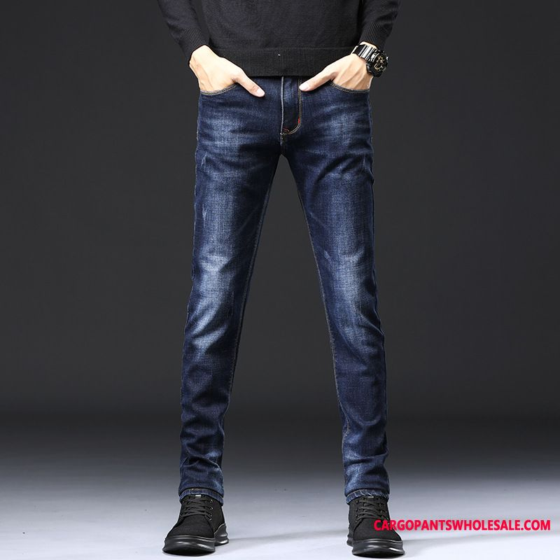 Jeans Male Green Jeans Leisure Men Autumn The New Winter