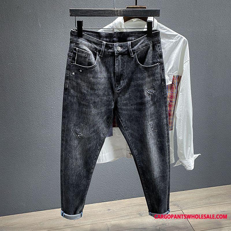 Jeans Male Jeans Trousers Pants Tide Brand Pants