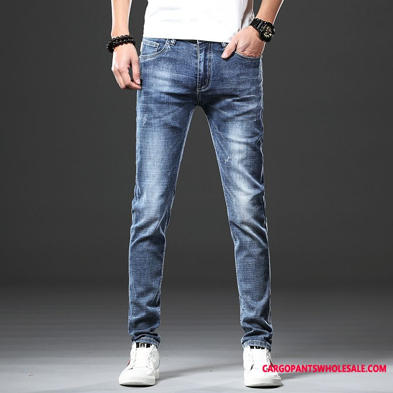 Jeans Male Pants Tide Brand Men Trend Straight Jeans