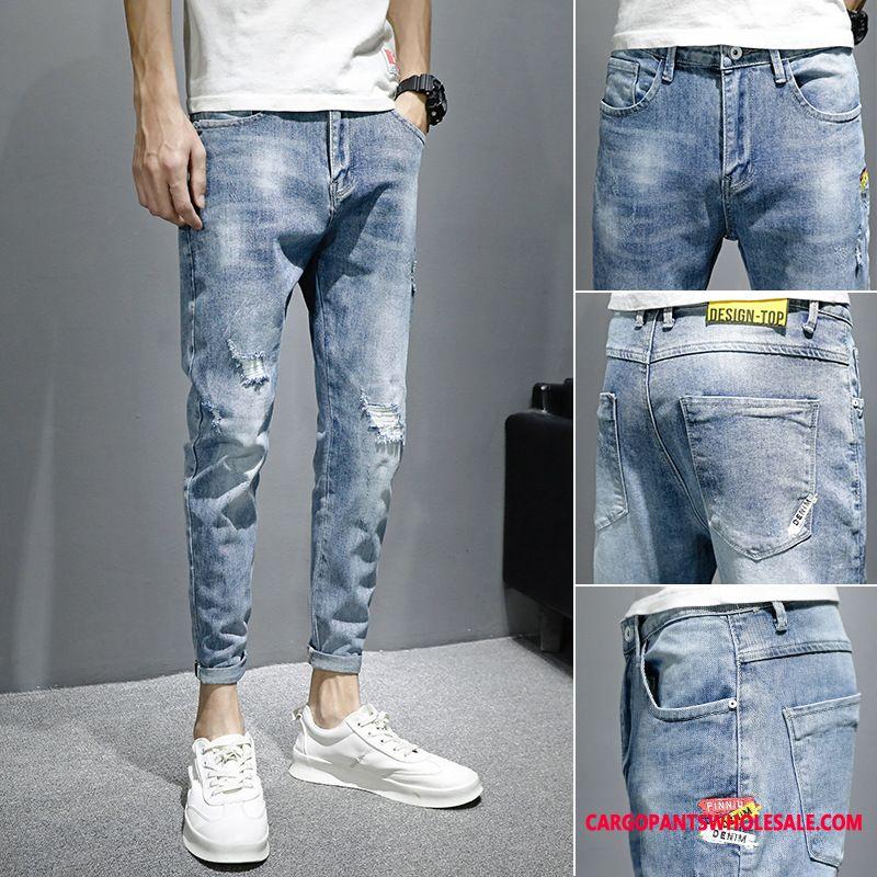 Jeans Male Trend Slim Fit Men Tide Brand Jeans Summer