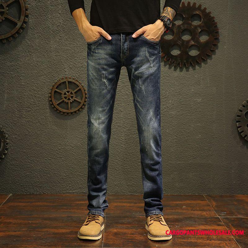 Jeans Men Fashion Cowboy Quality Straight Elastic Force