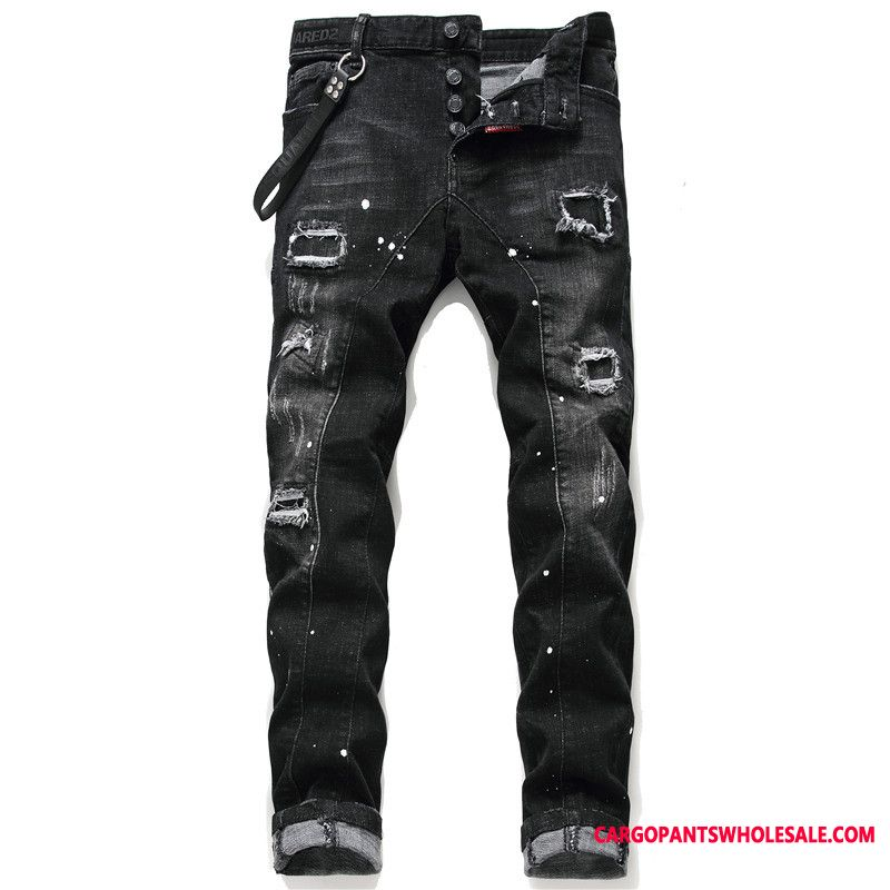 Jeans Men Personality Handsome Tide High End Jeans