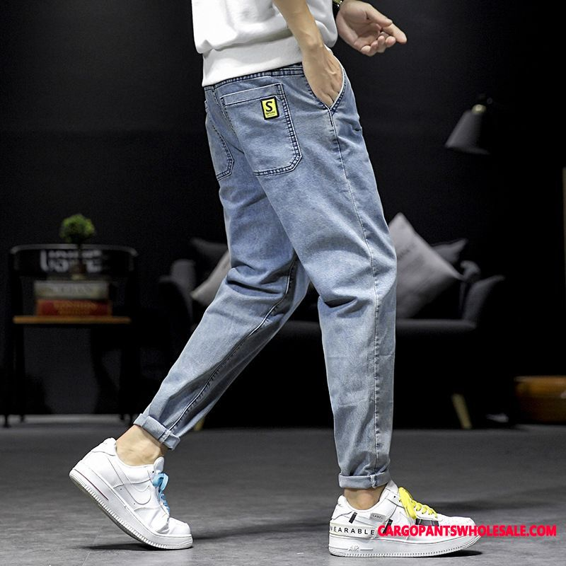 Jeans Men Slim Fit Trousers Pants Cattle Fashion